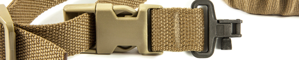 UDC Padded Bungee One Point Sling Push Button Adapter