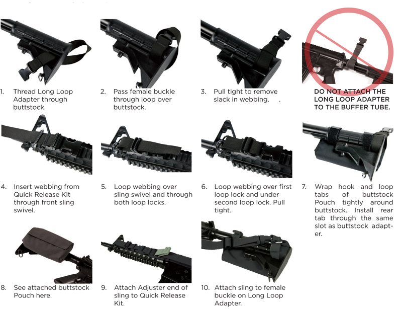 10 steps for attaching the Air Force Sling