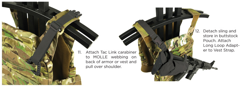 Final 2 steps for Air Force Weapon Sling attachment