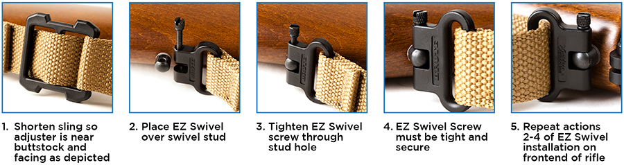 Attaching EZ Swivel Hardware to Swivel Stud Instructions