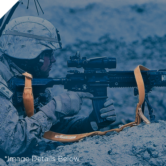 Marine Using Vickers Sling on M4